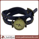 Klassische Frauen-Armbanduhr-Form-Uhr-Sport-Uhr-Leder-Uhr