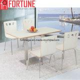 Novo design moderno Restaurante mesa de jantar em aço inoxidável e cadeira (FOH-BC16)