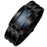 Vigilanza di sport del braccialetto di Digitahi LED della data dell'acciaio inossidabile degli uomini