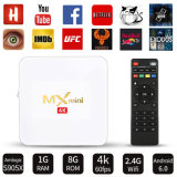MxのNetflix 2.4G WiFi 2017年のTVボックスメディアプレイヤーとの小型白いアンドロイドIPTV TVボックスS905W 2g DDR 16g Emmc 4K