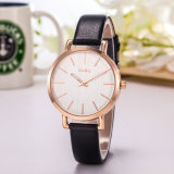 Vogue Hot Sale Montre bracelet en cuir cadeau Couple Watch (Wy-119A)