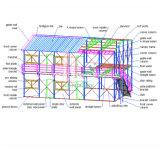 저가 열 절연제를 가진 현대 Prefabricated 집 빛 강철 구조물 조립식 집