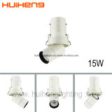 Luz retractable del punto del techo de Dimmable 0-10V 15W LED del Ce