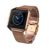 De Band van het Horloge van het Metaal van de Luxe van de premie voor Fitbit, de Band van het Horloge van de Parel van het Roestvrij staal voor Uitbarsting