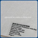 Papier peint professionnel d'Eco-Dissolvant de constructeur de papier de mur avec graver blanc