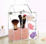 Het vierkante In het groot Acryl Kosmetische Kabinet van de Vertoning en Showcase voor de Vertoning van de Borstel