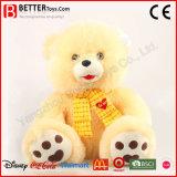 아이를 위한 사랑스러운 박제 동물 장난감 곰 견면 벨벳 연약한 장난감