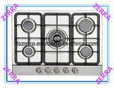 Estufa de gas casera de la cocina con 5 hornillas (JZS1010)