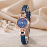 Reloj de manera conocido de encargo de la mujer del regalo de la correa de cuero del reloj (Wy-120A)