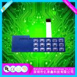 La fabricación de alta calidad cúpula metálica Teclado de membrana con luz LED