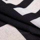 سوداء [جومتيك] طباعة سميك بوليستر نمو وشاح ([هت04])