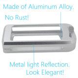Fazer à máquina remoto esperto de prata do protetor da tampa da caixa chave do carro da liga de alumínio