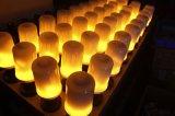Bulbos do incêndio do efeito da flama do diodo emissor de luz, luzes creativas com emulation de cintilação