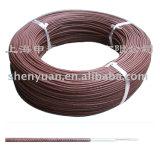 Tresse Fibergalss silicone haute température sur le fil isolé