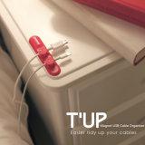 새로운 생활 양식 T'up 자석 USB 케이블 조직자 I 의 케이블 클립