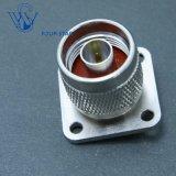 Des männlichen Stecker-25.4mm Koaxialn Verbinder Quadrat-Flansch HF-mit 0.25-3mm TabulatorPin