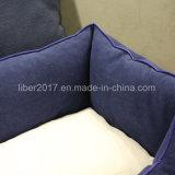 Dunkelblaues quadratisches Haustier-Produkt-Hundebett-Haustier-Bett