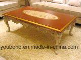 0066人のヨーロッパ人の旧式な寝室の家具の固体木の切り分けるコーヒーテーブル