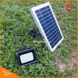 A energia solar o uso da luz exterior de inundação para luz de jardim Solar