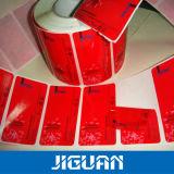 Kundenspezifischer Qualitäts-selbstklebender Reklameanzeige-Aufkleber