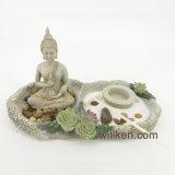 탁상 Buddha 선 정원 다즙 촛대 홈 훈장 선물