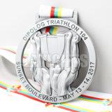 Medalha Wrestling do esporte da estação de acabamento do Triathlon feito sob encomenda barato do fabricante com fita