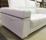Sofa véritable 1+2+3 de cuir de meubles de bureau d'arrivée neuve