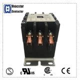 contactor magnético eléctrico certificado UL del aire acondicionado de 24V 20AMPS 3 postes