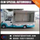 Carro caliente del helado de la venta del vehículo móvil de los alimentos de preparación rápida 4*2