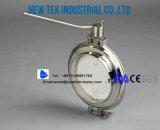 Hygiënische Farmaceutische Vleugelklep Stuiklas voor IBC Tank SS316L