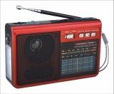 FM/AM/SW1-6 8 полосы портативный радиоприемник с USB/TF/АККУМУЛЯТОР/Bluetooth динамик