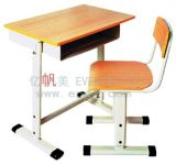 Mobilier scolaire bon marché, bureau en bois de Tableau d'étude d'élève réglable, présidence en plastique