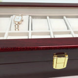 Casella di memoria di legno della serratura di combinazione della lacca di rivestimento di lucentezza di alta qualità