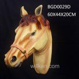 Tête de cheval animale de résine décorative de métier