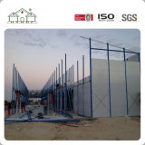 Casa modular prefabricada del hogar del campo del marco de la estructura de acero de la luz del bajo costo para el edificio de Domitory del trabajador/la oficina móvil
