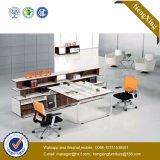 Estação de trabalho de madeira da equipe de funcionários do caixeiro do conjunto da divisória do escritório do MDF (HX- TN162)