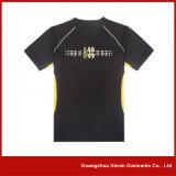 T-shirt relativo à promoção impresso da cor dos homens costume amarelo (R25)