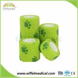 獣医の覆いの綿によって印刷される凝集の伸縮性がある圧縮包帯