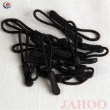 Extrator de fecho de silício preto antiderrapante para vestuário Saco de bagagens