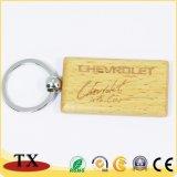 주문 심혼 모양 나무로 되는 열쇠 고리 Engravable 나무로 되는 열쇠 고리