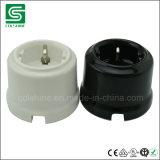 Socket eléctrico retro de la luz de la vendimia del enchufe de socket de la porcelana de Colshine