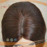 La parte superior de la seda Seda transpirable en la parte superior delantera de encaje peluca (PPG-L-01615)