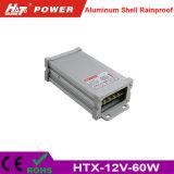 alimentazione elettrica Rainproof di 12V 5A LED con le Htx-Serie di RoHS del Ce
