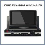 8CH HD P2p Ahd DVR met 7 Duim LCD