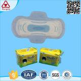 Les ailes de coton jetables de marque OEM Serviette hygiénique tampon sanitaire