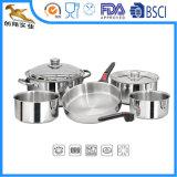 8 ПК из нержавеющей стали позволяют экономить пространство компоновки кемпинг посуда для приготовления пищи (CX-SS0804)