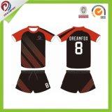 Fútbol de encargo Jersey de la sublimación del poliester del precio bajo de la ropa de deportes de Dreamfox