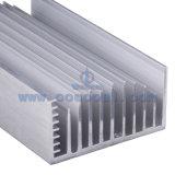주문을 받아서 만들어진 알루미늄 알루미늄 열 싱크는을%s 가진 양극 처리한다 (ISO9001: 증명서를 주는 2008)