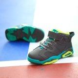 Chinesische Lieferanten-Form-bereift hoher Spitzenbasketball-Luft-Unisexsport Basketball-Schuhe des Kindes