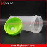 bottiglia di plastica dell'agitatore della proteina 600ml con la parte interna della sfera del miscelatore del miscelatore (KL-7010F)